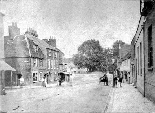 Picture of lower High Street, Newport about 1859.