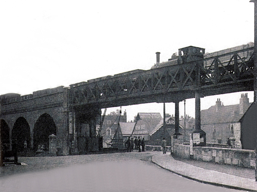 Picture of Coopins road and railway bridge circa 1910