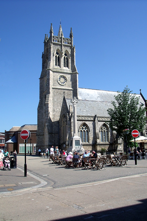 Picture of St Thomas's Church, Newport where Willam and Mary were married.